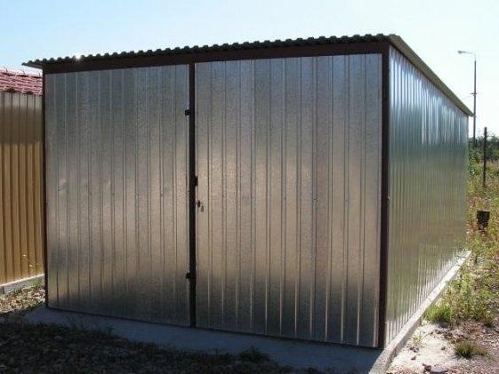 Plechová garáž 6x4m