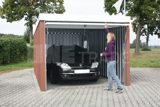 plechová garáž - eurogaráž